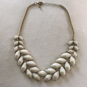 Gold and cream necklace
